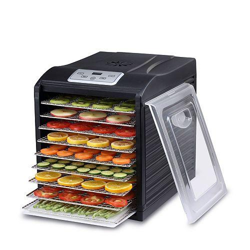 BIOCHEF ARIZON SOL FOOD DEHYDRATOR 9 X BPA FREE STAINLESS-STEEL DRYING TRAYS & BPA FREE BODY (BLACK)