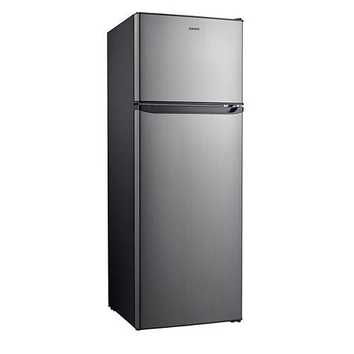 Galanz 12 cu.ft. Top Freezer Refrigerator, Stainless Steel Look