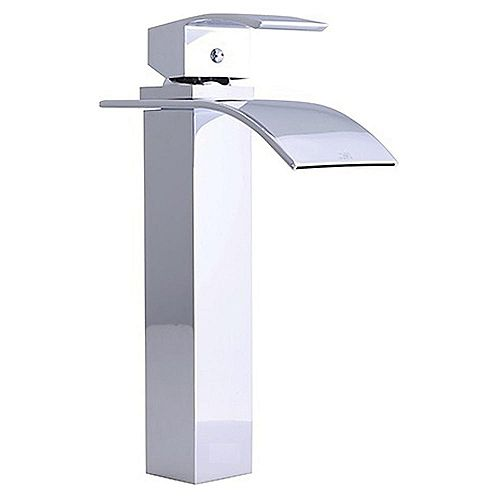 Raina 10 inch Single Hole Vessel Sink Bathroom Faucet - Polished Chrome