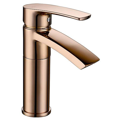 Ariana 7 inch Single Hole Bathroom Sink Faucet with Swivel Spout - Polished Rose Gold