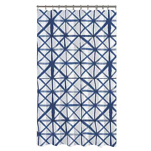 Shibori Shower Curtain 72 x 72 inch Multicolor Print
