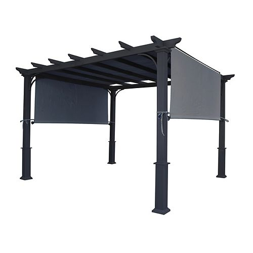 """Home Depot Universal Replacement Pergola Canopy Top (Size: 194"""" x 88""""), Fit for 8 ft. x 10 ft. Pergola (Grey)"""