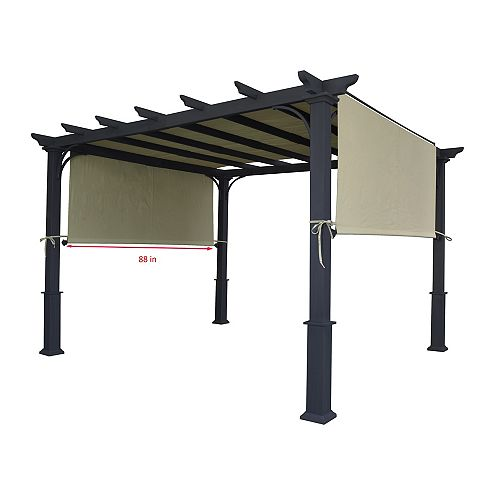 """Universal Replacement Pergola Canopy Top (Size: 194"""" x 88""""), Fit for 8 ft. x 10 ft. Pergola (Beige)"""