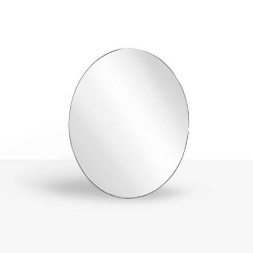 Infinity 24-inch x 30-inch Chrome Metal Oval Mirror