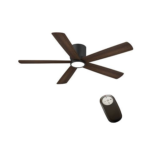 Britton 52-inch Matte Black Ceiling Fan with Remote Control with LED Light