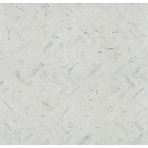White Marble Herringbone 5 ft. x 12 ft. Laminate Sheet in Matte Finish 9310-58