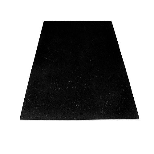 3 ft. X 4 ft. Black Utility Mat