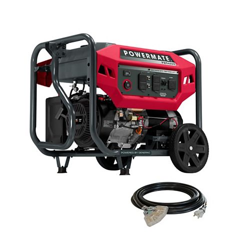 Powermate Powermate 9,400 Watt Electric Start Portable Generator with Cord