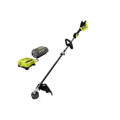 40V HP Brushless Cordless Carbon Fiber String Trimmer Kit with 4.0 Ah Battery and Charger