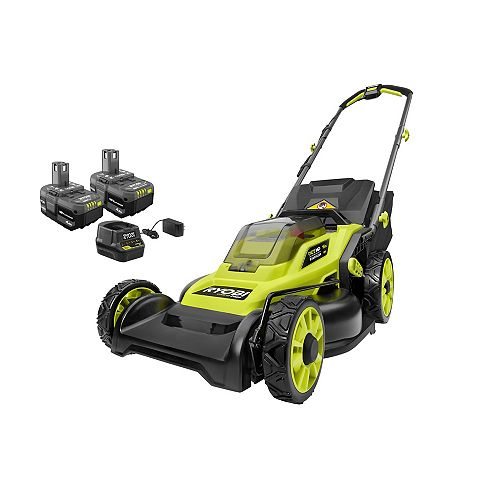 18V ONE+ HP Brushless Cordless 16-inch Walk-Behind Push Lawn Mower Kit with (2) 4.0 Ah Batteries and Charger