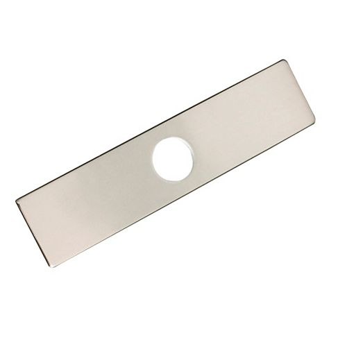 Single Hole Kitchen Faucet Plate in Brushed Nickel
