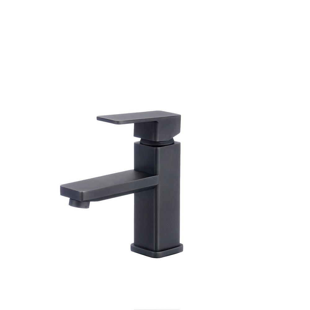 Stylish Single Hande Bathroom Faucet in Matte Black