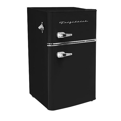 3.2 Cu. Ft. 2-Door Compact Fridge - Black