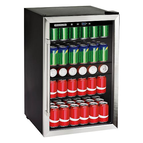 4.4 Cu. Ft. 126-Can Stainless Steel Beverage Center
