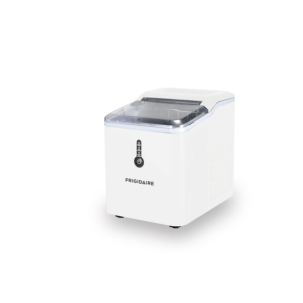 Frigidaire Countertop Compact Ice Maker with 26lbs Capacity Production per Day - White
