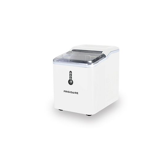 Countertop Compact Ice Maker with 26lbs Capacity Production per Day - White