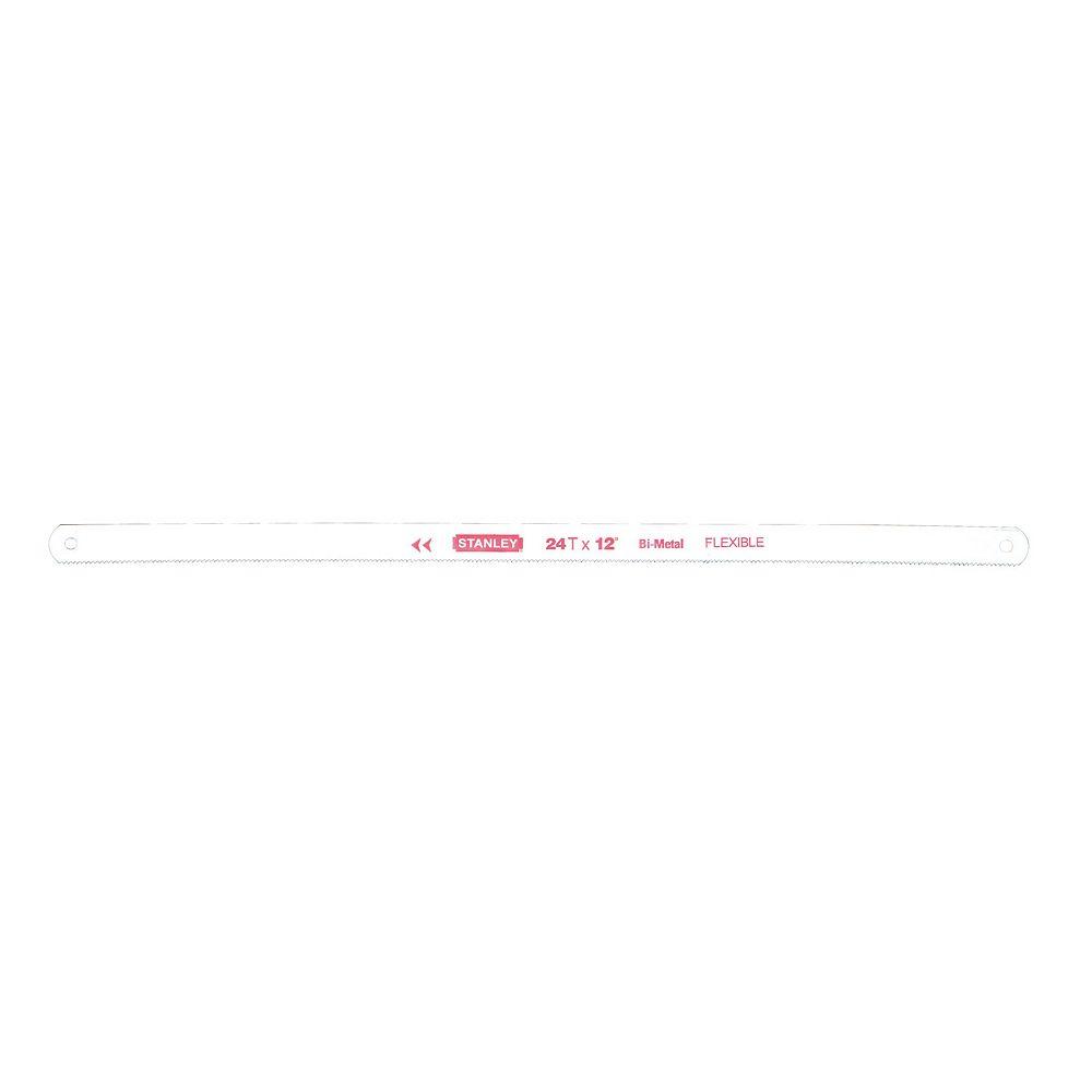 STANLEY 12-inch 24 TPI Bi Metal Hacksaw Blade