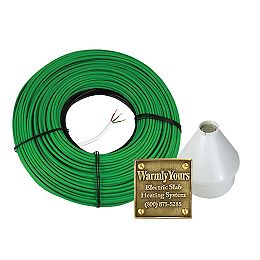 Embedded Electric Snow Melting Kit with 85.5' Heating Cable (240V) and Automatic Control