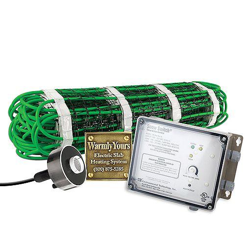 Kit de fonte de neige 2 pi x 20 pi (240 V) et contrôle automatique avec capteur aérien