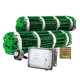 Snow Melt Kit for Heated Driveway Tire Tracks 2' x 20' and Automatic Control