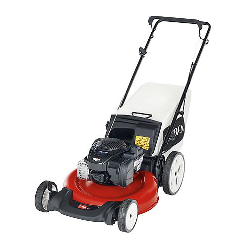 Briggs & Stratton 21-inch Recycler High-Wheel Gas Walk Behind Push Lawn Mower with Bagger