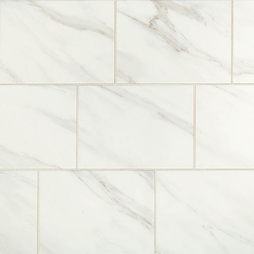 Selwyn Bianco Calacatta Glossy 10 in. x 14 in. Glazed Ceramic Wall Tile