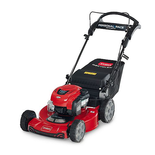 Briggs & Stratton 22-inch Recycler Electric Start Self-Propelled Gas Walk-Behind Mower with Bagger and Rear Wheel Drive