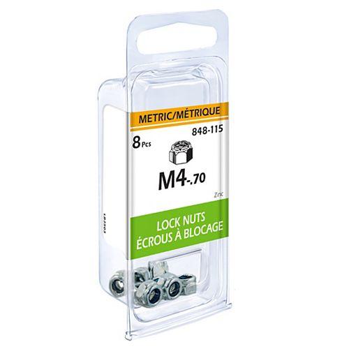 Metric Lock Nut M4-.70 8pcs