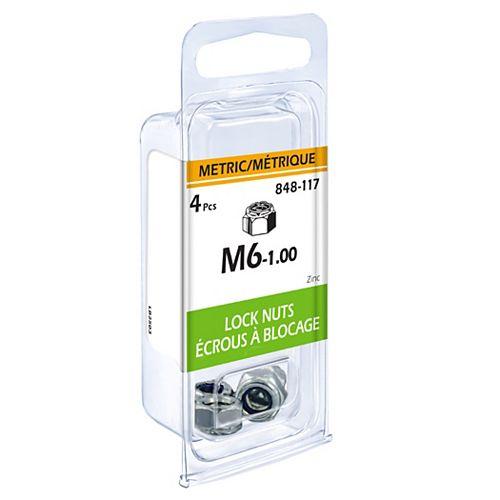 Metric Lock Nut M6-1.00 4pcs
