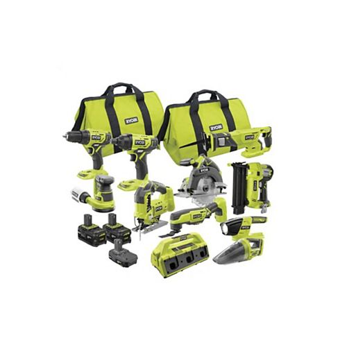 18V ONE+ Lithium-Ion Cordless Combo Kit (10-Tool)