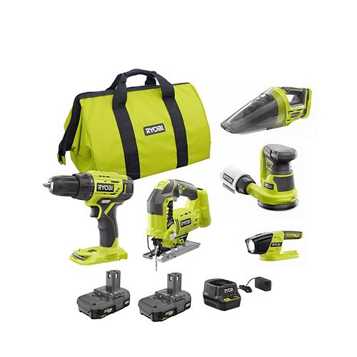 18V ONE+ Brushless Cordless 5-Tool Combo Kit with (2) 1.5 Ah Batteries, Charger and Bag