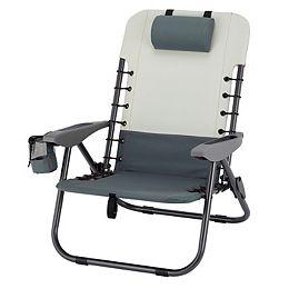 Chaise à lacets pliante à 4 positions-Gris