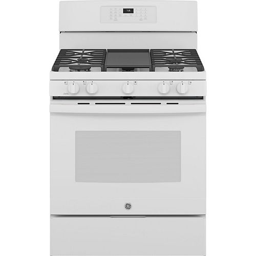 30-inch Free-Standing Gas Convection Range with No Preheat Air Fry in White