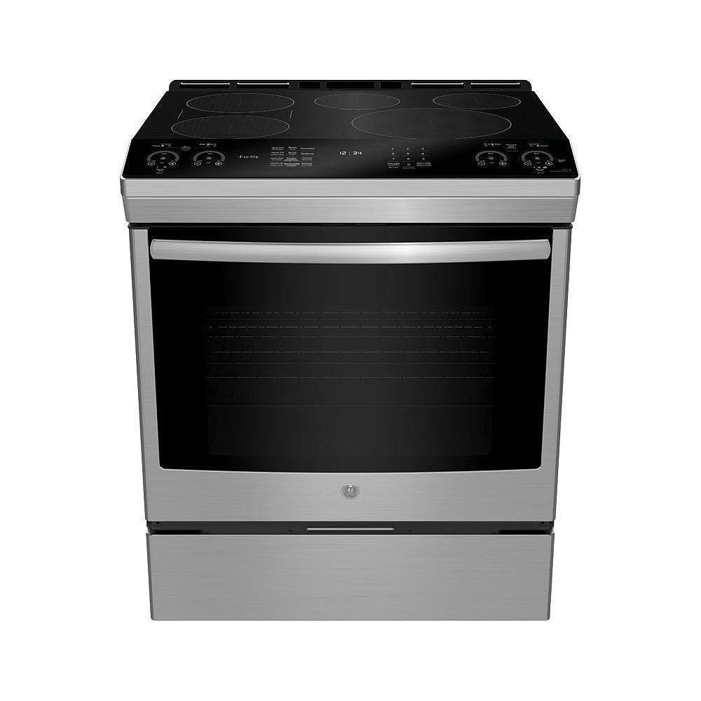 GE Profile Cuisinière à induction encastrée de 30 po en acier inoxydable résistant aux empreintes digitales