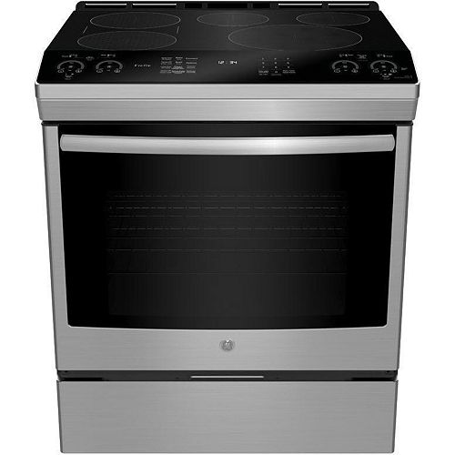 30-inch Slide-In Induction Self-cleaning Range in Fingerprint Resistant Stainless Steel