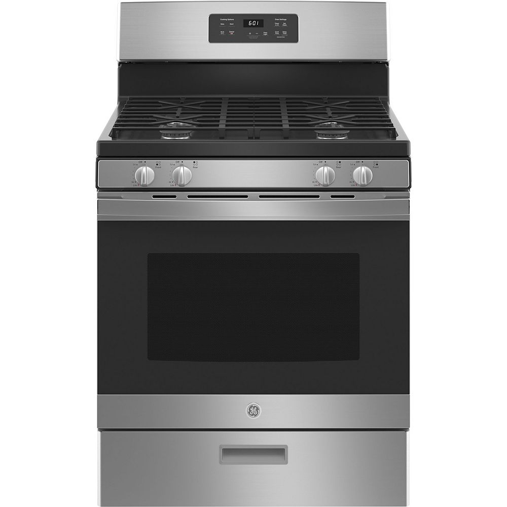 GE 30-inch Free-Standing Gas Range in Stainless Steel