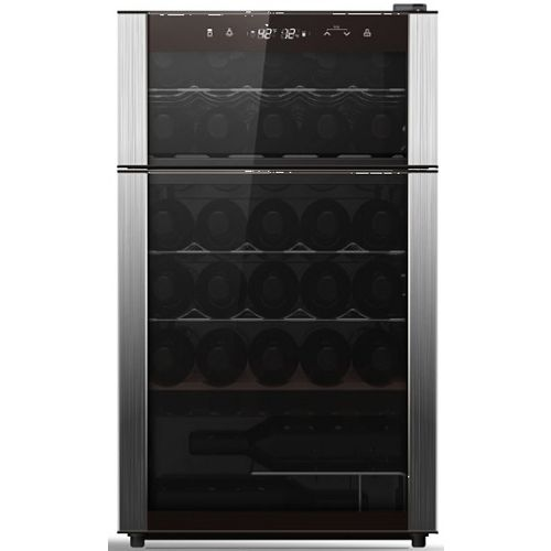 29-Bottle Dual Zone Wine Cooler in Stainless Steel