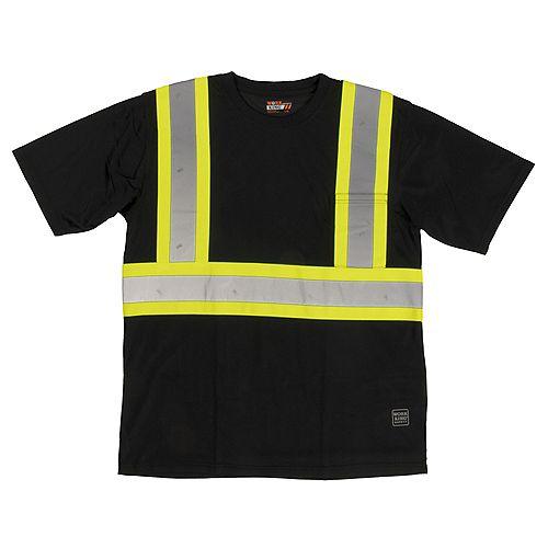 S/S Safety T-Shirt W/Pocket Blk 4Xl