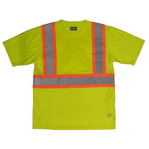 S/S Safety T-Shirt W/Pocket Flgr Xl