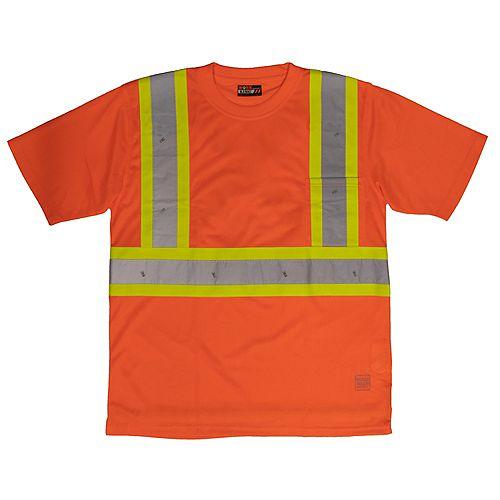 S/S Safety T-Shirt W/Pocket Flor 5Xl