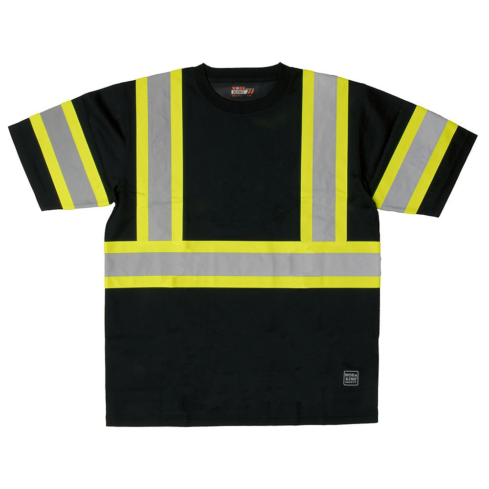Work King S/S Safety T- Shirt Blk S