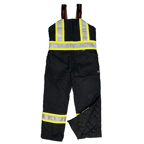 Lined Safety Overall Blk 5Xl