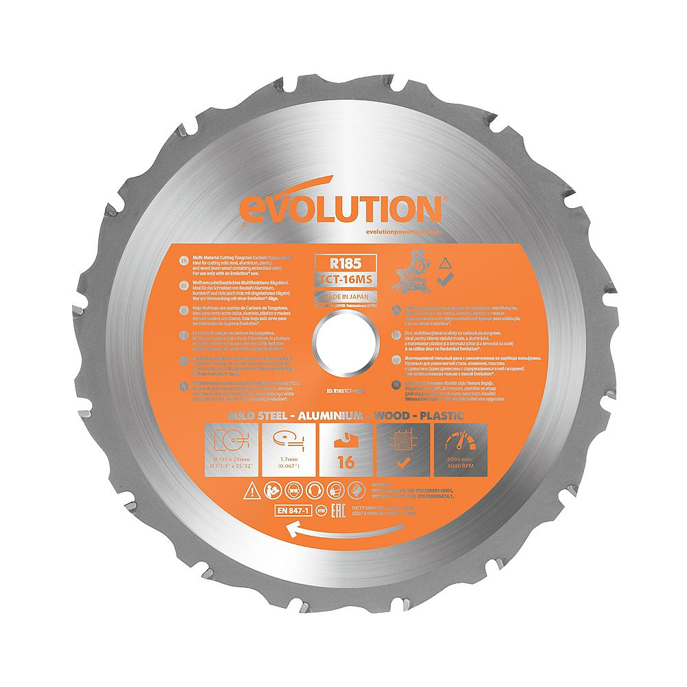 Evolution Power Tools 7-1/4 inch Multi-Material Miter Saw blade