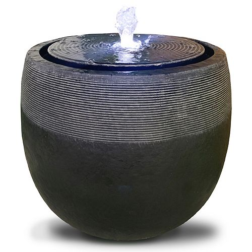 Angelo Décor Avante Fountain, 17-inch Height, Includes Energy Efficient Pump and LED Lights