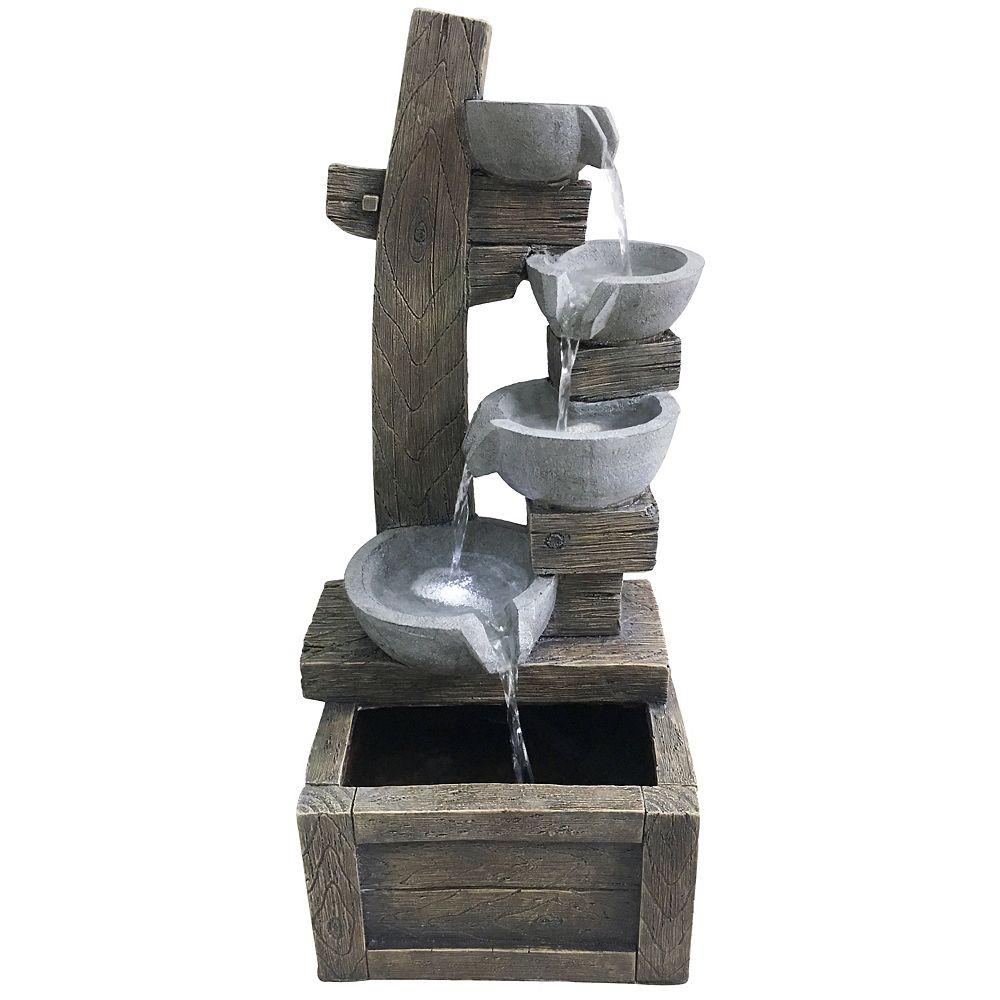 Angelo Décor Angelo Décor Scala Fountain, 26-inch Height, Includes Energy Efficient Pump and LED Lights