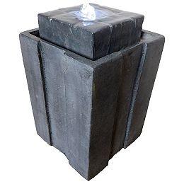 Angelo Décor fontaine Bristol  45 cm de haut, avec pompe et lumières DEL