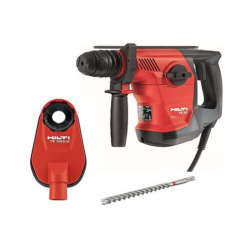 120-V 8.6 Amp Corded TE 30 SDS Plus Combi Hammer with TE-CX Drill Bit and DRS-D Dust Removal System