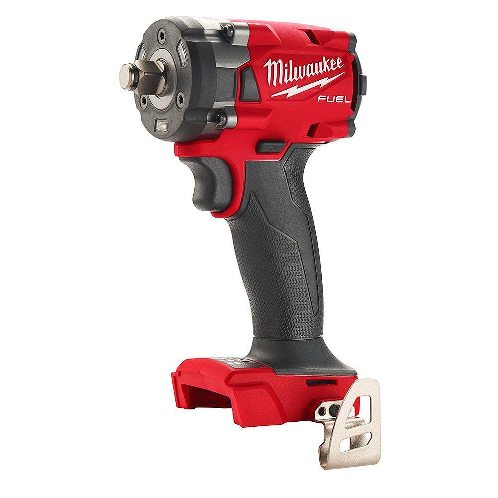Milwaukee Tool Clé à chocs compacte 1/2 pouce sans fil M18 FUEL Gen-2 avec anneau de friction (sans outil)