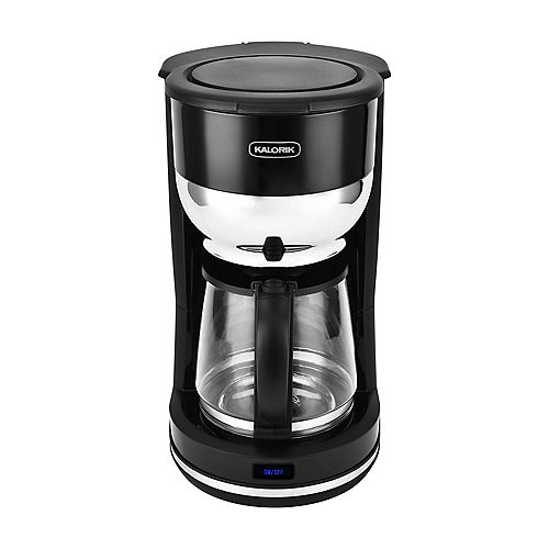 Kalorik 10 Cup Retro Coffee Maker, Black