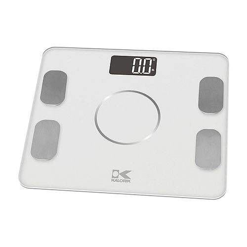 Kalorik Smart Electronic Body Analysis Scale, White